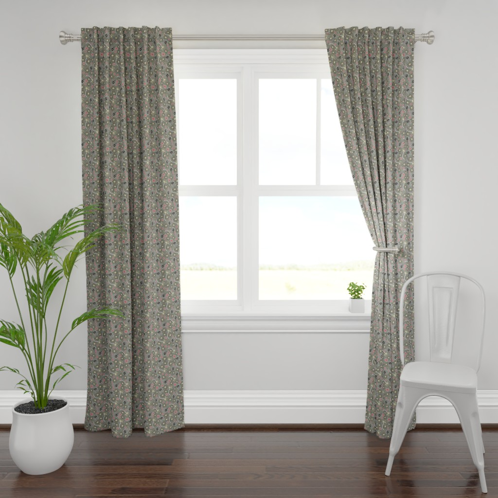 Plymouth Curtain Panel featuring Neurons  by angelastevens