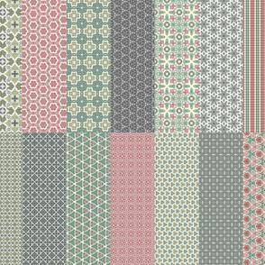 Crazy Wreath Stitched Main Patterns Sampler