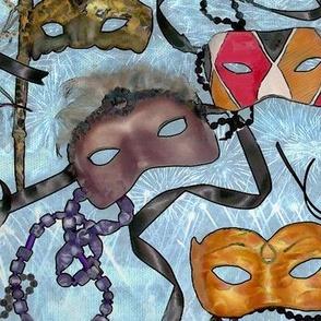Masks- Mardi Gras -polymer clay