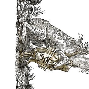 16th Century Unicorn Border Print