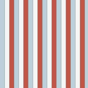 Blue then White then Red Stripe