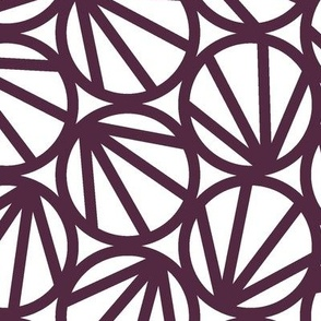 Mari - Geometric Circles - Crimson Line  - Large Scale