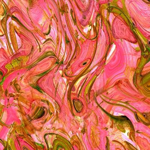 """Marbled Pinks And Greens"""
