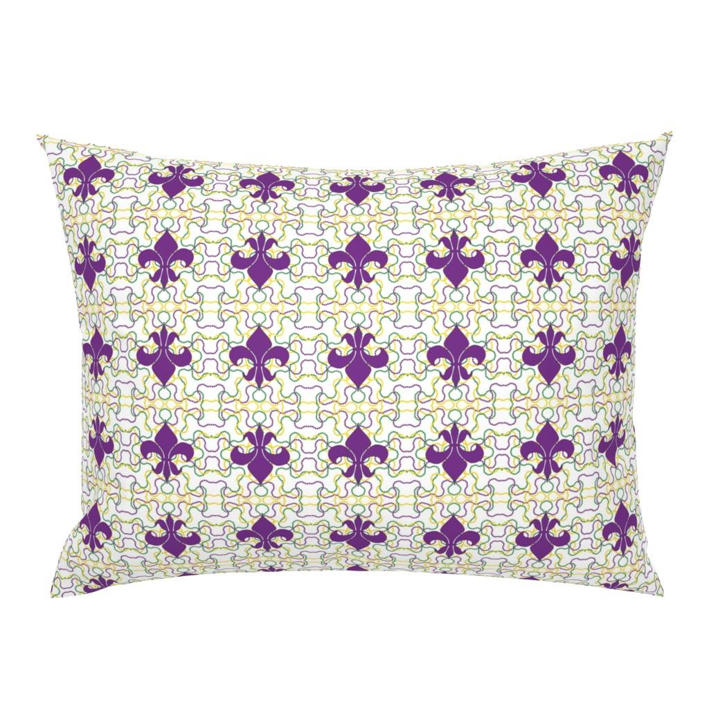 Campine Pillow Sham featuring Beads and Fleur de lis by careyruhl