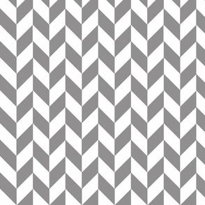Small Gray-White Herringbone
