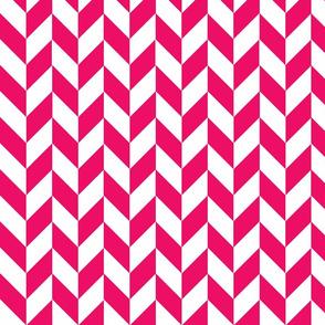 Small Pink-White Herringbone