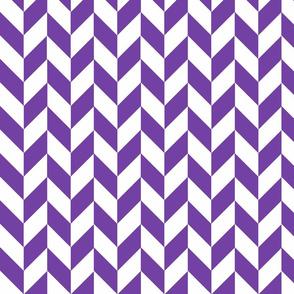 Small Purple-White Herringbone