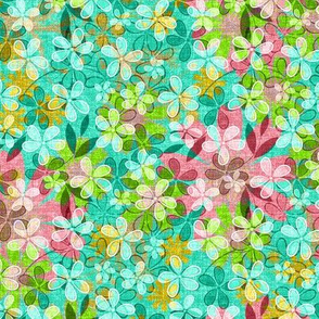 Floral Meadow Mix in turquoise