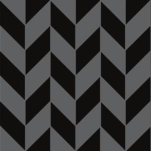 Black And Gray Herringbone