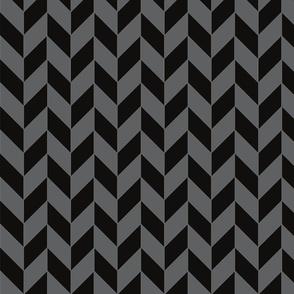 Small Black and Gray Herringbone