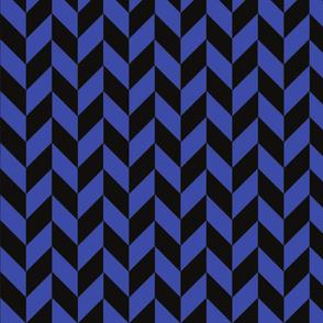 Small Blue and Black Herringbone