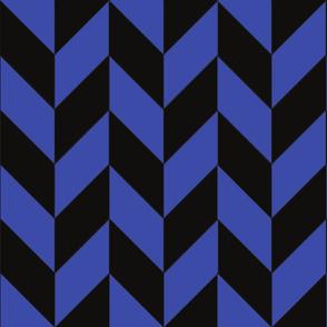 Blue and Black Herringbone