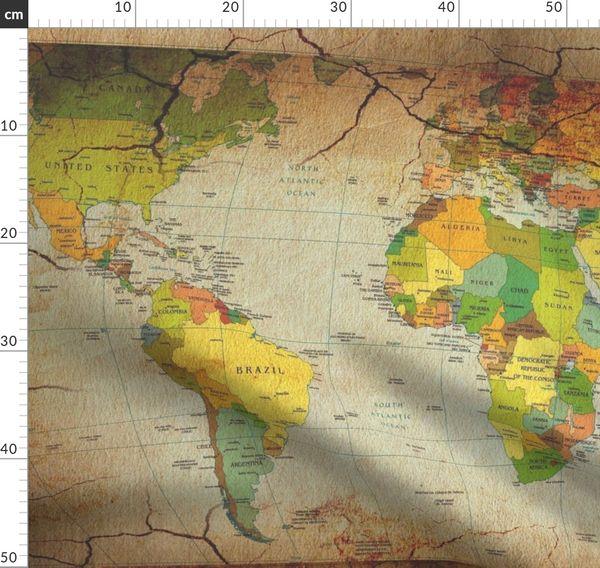 Landkarte Vintage Gross Erde Welt Lander Karte Jahrgang