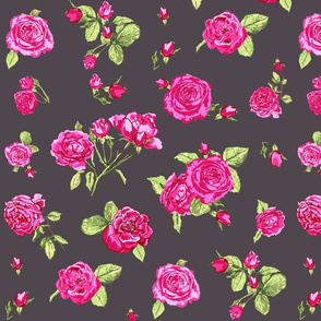 roses on dark grey