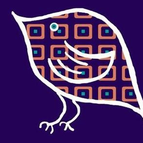 Birdie on Indigo