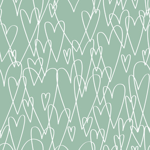 Big Hearts  M+M Eucalyptus by Friztin