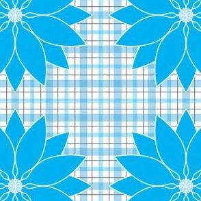 Large_Aqua_Lotus_Plaid