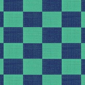 check mates - lapis and turquoise blue