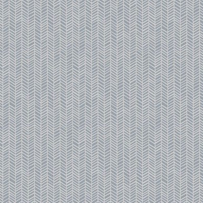 Herringbone Muted Blue by Friztin - Micro