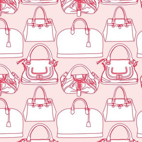Handbags Pink and Red