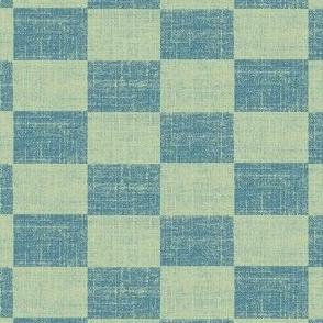Check Mates - a light blue stonewashed denim look