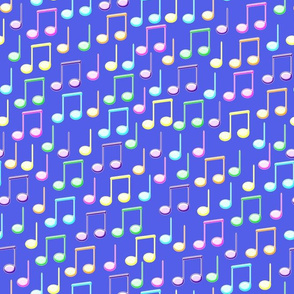 Colourful music notes