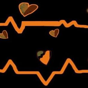 Heartbeat writ in orange