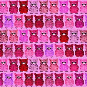 Fuzzy Pink Owlettes