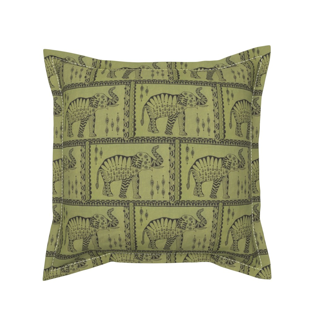 Serama Throw Pillow featuring African Elephant by katiame