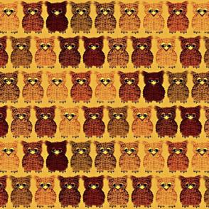 Fuzzy Golden Owlettes