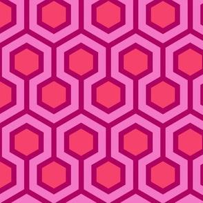Honeycomb Geometric Pink
