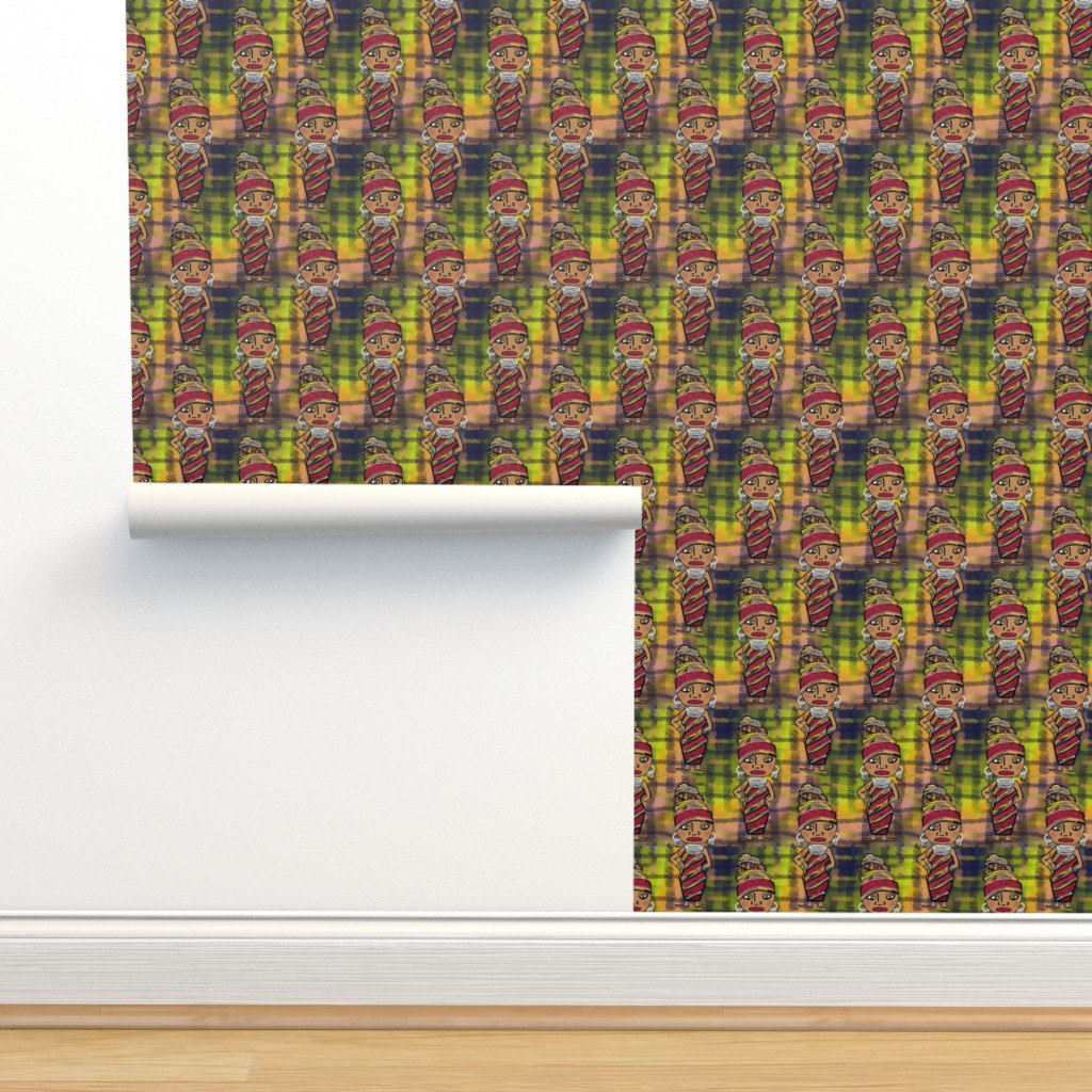 Isobar Durable Wallpaper featuring African Beauty by amy_g