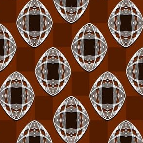 Nouveau Eye Checkerboard Brown