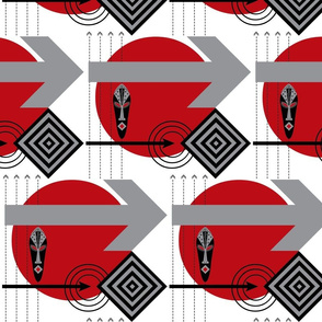 African Modern / Red