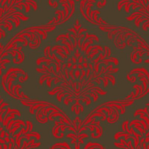 Timeless brocade/ Rouge