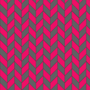 Gray-Pink Herringbone