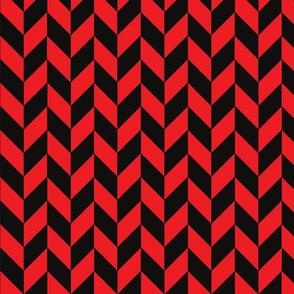 Black-Red Herringbone