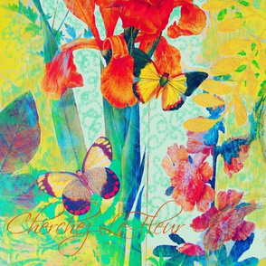 French Irises Florals Collection by Susi Franco
