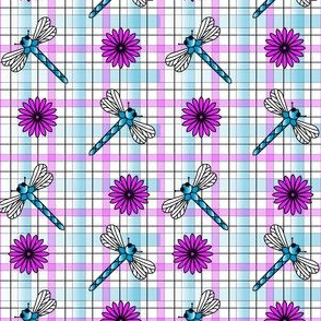 Dragonflies___Flowers_Plaid