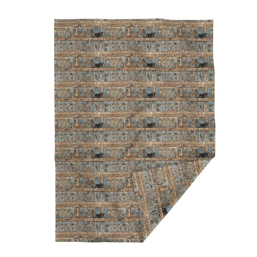 "Lakenvelder Throw Blanket featuring ""Egyptian Hieroglyphs"" by jeanfogelberg"