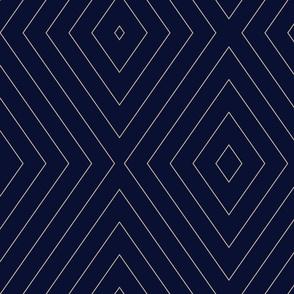 Pin Stripe Chevron- Blue-black