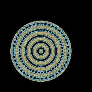 Blue Mandala on Black