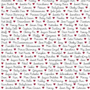 Love Bug Text fabric