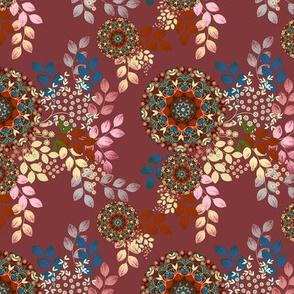 Meadow Bouquet in plum