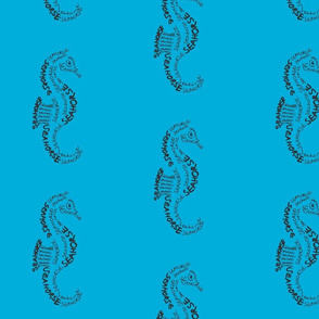 Seahorse Calligram