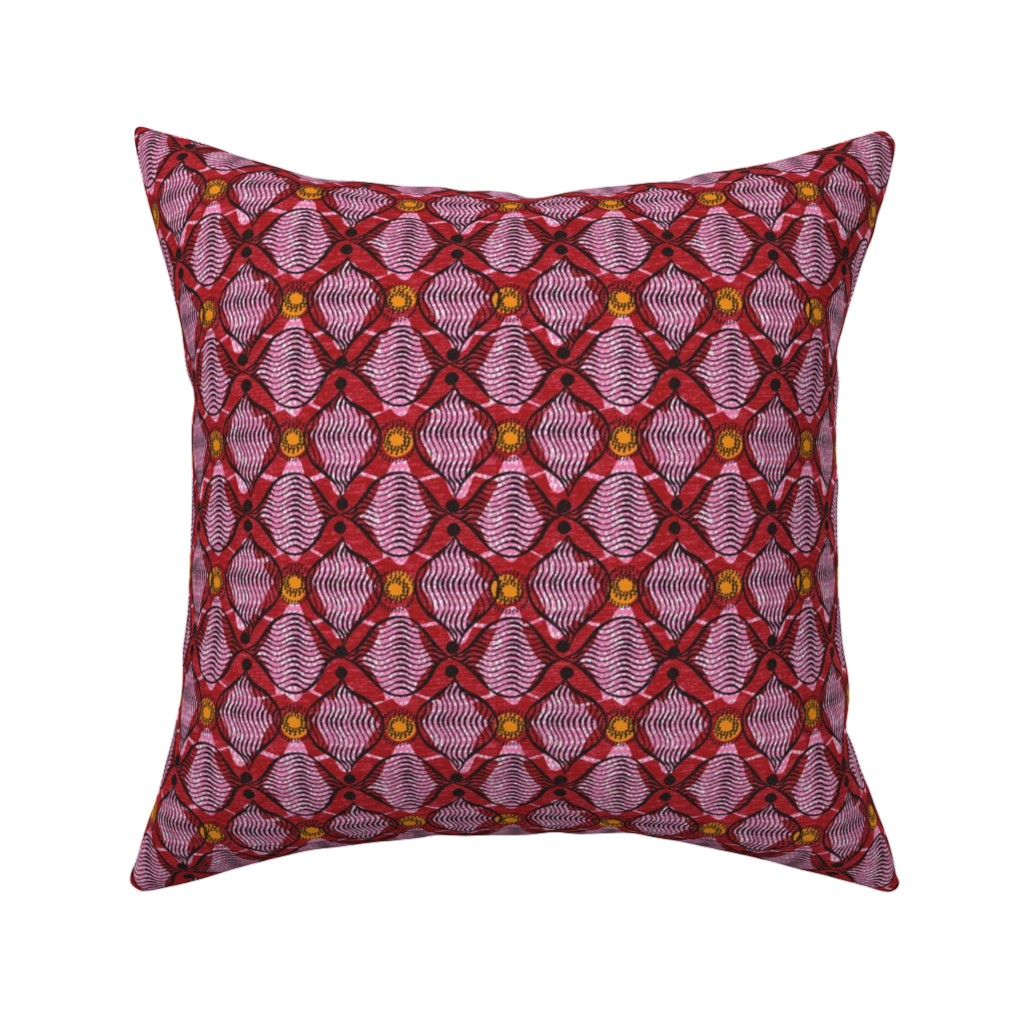 Catalan Throw Pillow featuring crossing-African by ottomanbrim