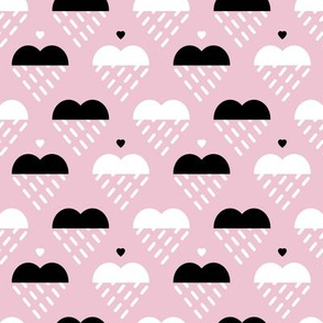 Raining clouds can become sweet hearts