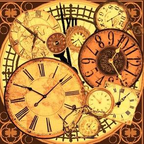 clocks brown