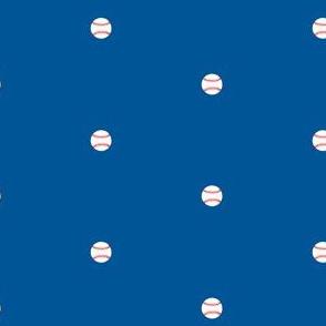 Baseball Dots  Blue