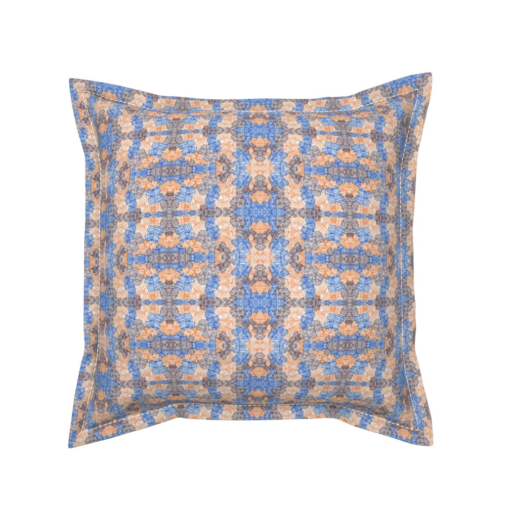 Serama Throw Pillow featuring Orange and Brown Abstract Texture by careyruhl